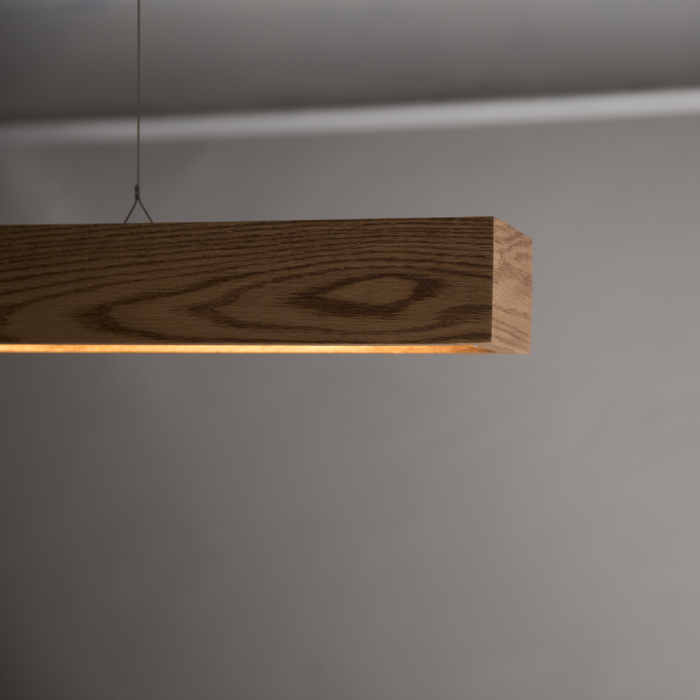 wood straight lighting